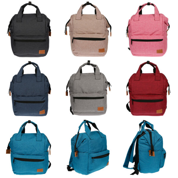 64a5f8a76225e Damen Canvas Rucksack Tablet Laptop Fach Tasche Schwarz Grau City Bag  Backpack