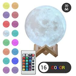 Kyпить 3D Moon Night Light Table Lamp USB Charging Remote Touch Control Home Decor Gift на еВаy.соm