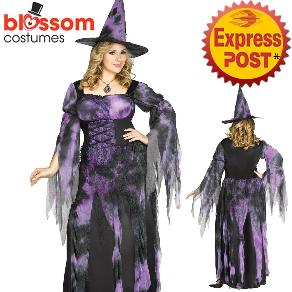 81fe11e36db CA803 Starlight Witch Wizard Halloween Dress Horror Gothic Plus Womens  Costume | eBay