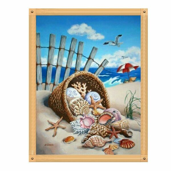 5D DIY Full Diamond Painting Beach Embroidery Cross Stitch Craft Kits Home Decor