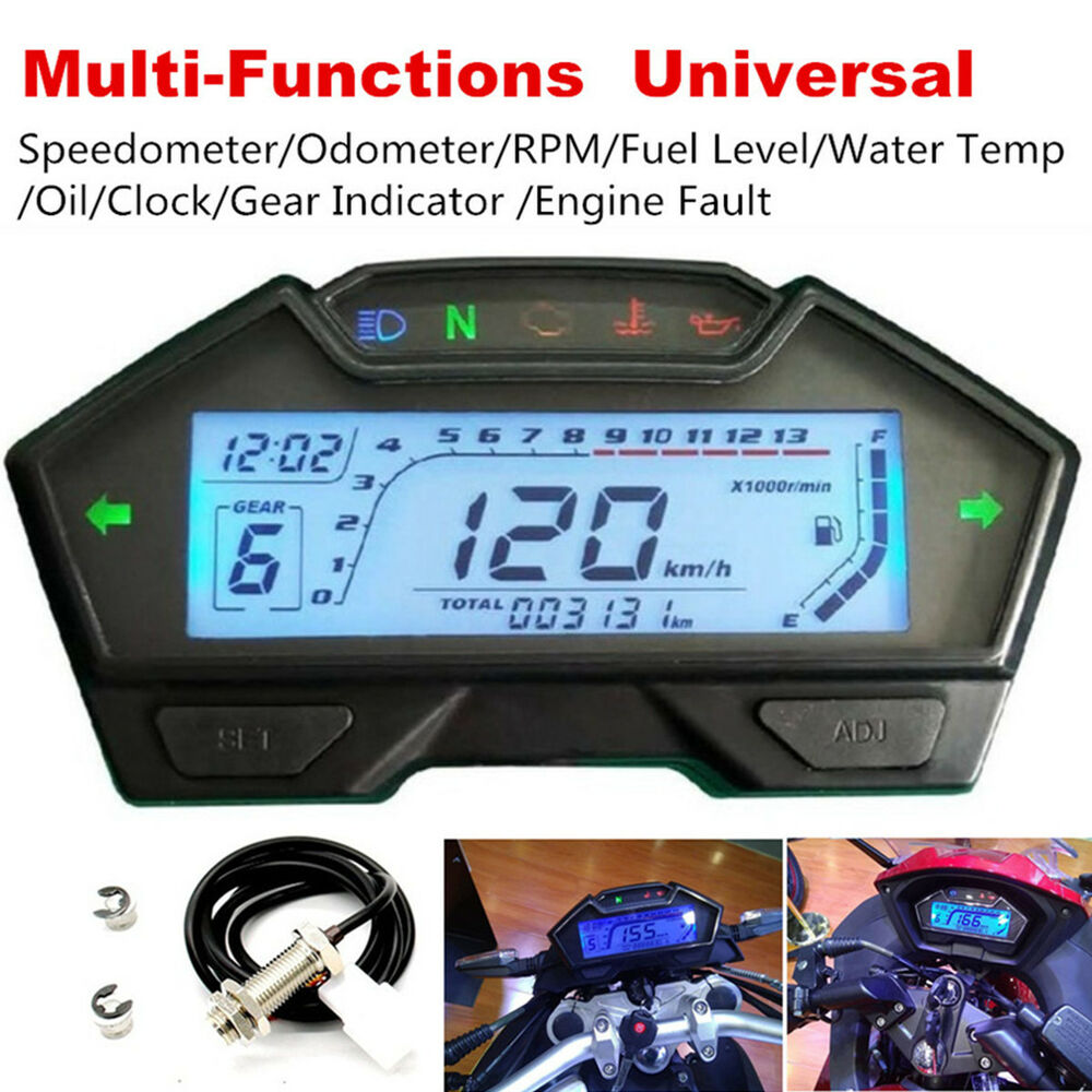 1xmotorcycle Speedometer Odometer Rpm Speed Fuel Gauge Kph Mph Water 1996 Yamaha Tdm850 Wiring Diagram And Electrical System Tempsensor 8902330853924 Ebay
