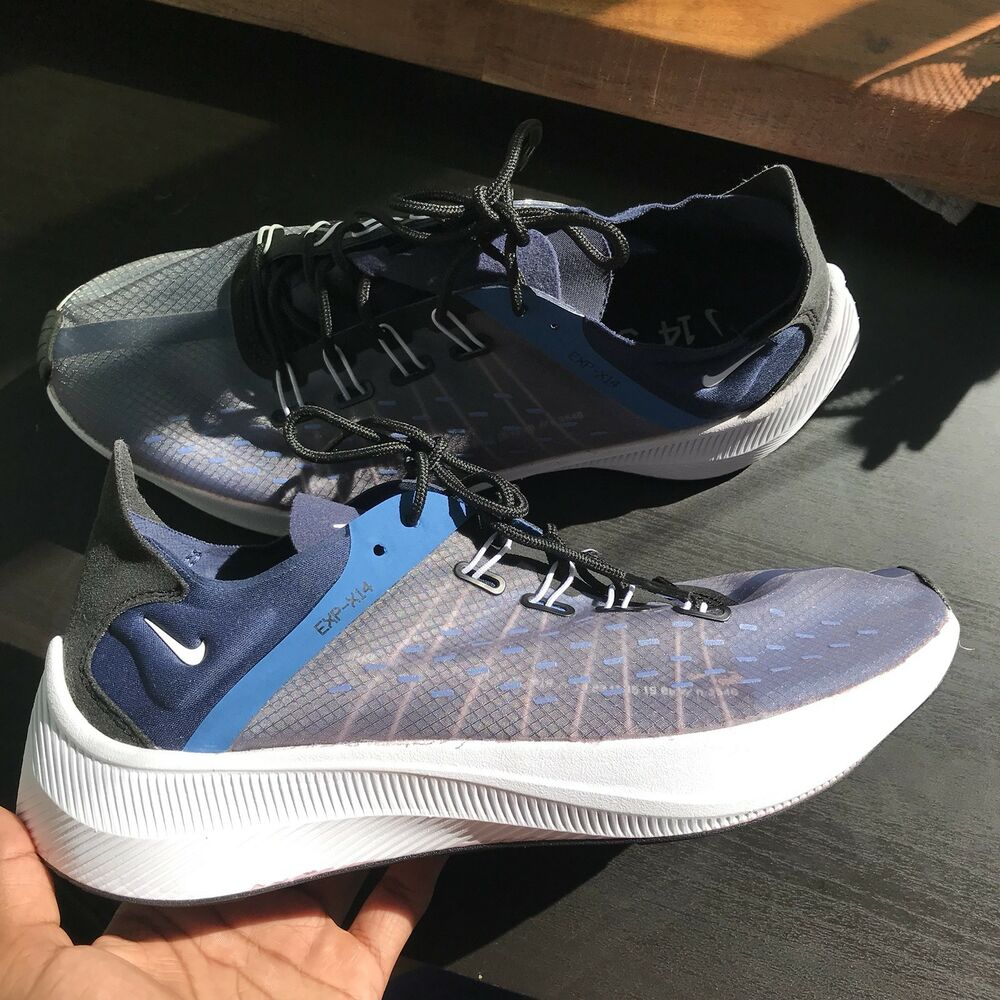 new style 2aa7c 9ddbe Details about Nike EXP X14 Midnight Navy White Mountain Blue AO1554 401  Men s SIze 9