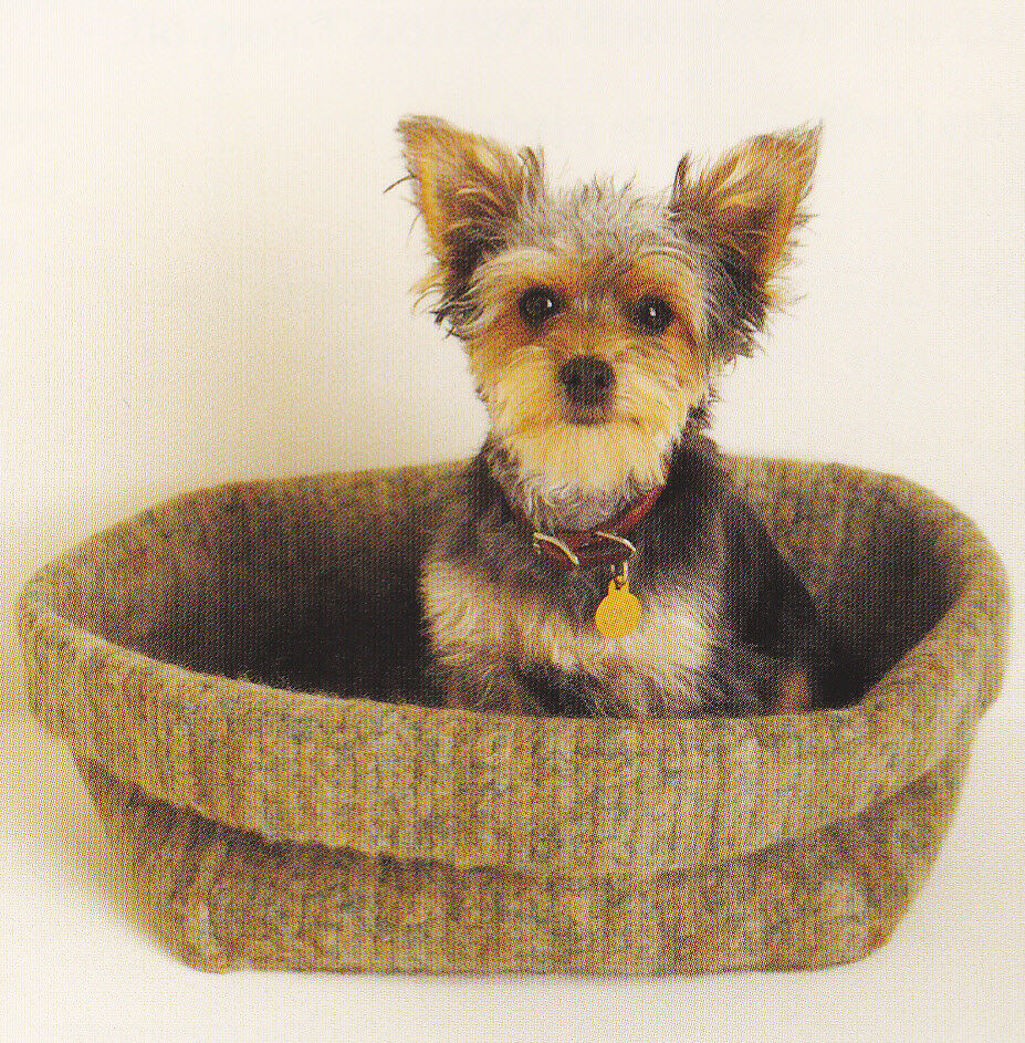 Crochet Pattern Dog Or Cat Felted Box Pet Bed Instructions Ebay