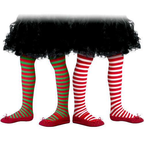 9565635da Details about Christmas Striped Tights Girls Fancy Dress Xmas Childrens Kids  Costume Accessory