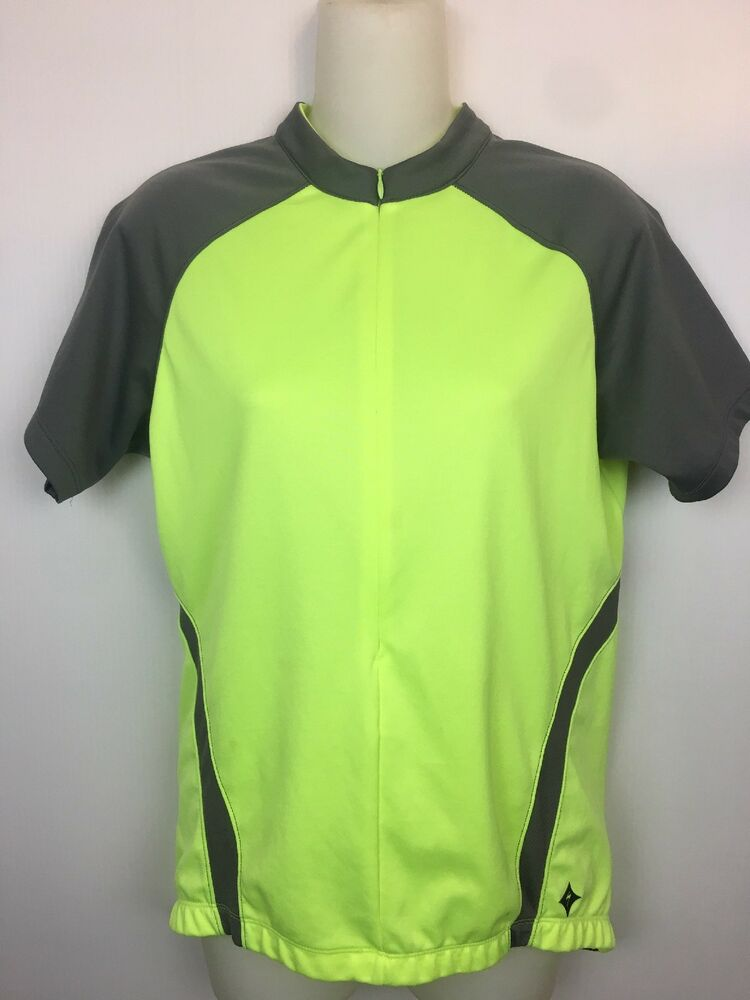 Specialized Womens Bike Short Sleeve Jersey Top Size Large High Visibility   099a9efbc