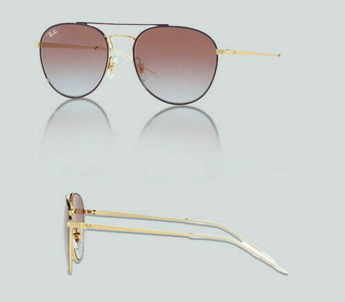 6de243e455 Authentic Ray Ban 0RB 3589 9059I8 GOLD TOP ON VIOLET Sunglasses
