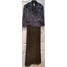 NWT$169 ALEX EVENINGS 10P GORGEOUS 2 PC.GLITTER GOWN  FORMAL/CRUISE/WEDDING