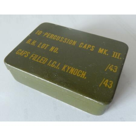 img-PARATROOPERS genuine WWII PIAT MORTAR PERCUSSION CAP EMPTY TIN FOR WARGAME ETC
