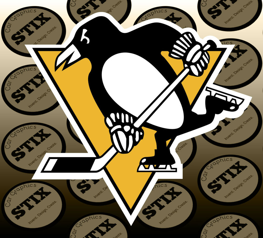 Details about pittsburgh penguins logo nhl die cut vinyl sticker car window hood bumper decal