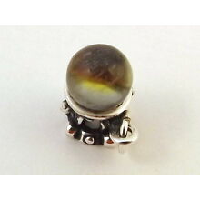 Sterling Silver CRYSTAL Fortune Telling BALL Charm -See the future? - 0035