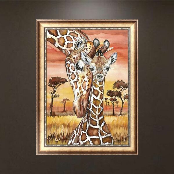 DIY 5D Full Diamond Painting Giraffe Embroidery Cross Stitch Kit Craft Decor