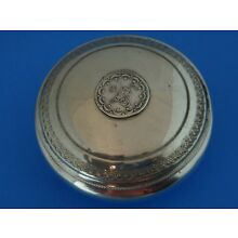 800 Egyptian Silver Round Box Egyptian Coin in Lid