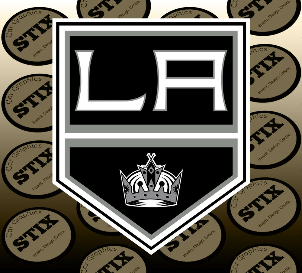 Details about los angeles kings logo nhl color die cut vinyl sticker car window bumper decal