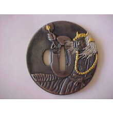 New Japanese Samurai Sword 77mm Takeda Shingen Tsuba
