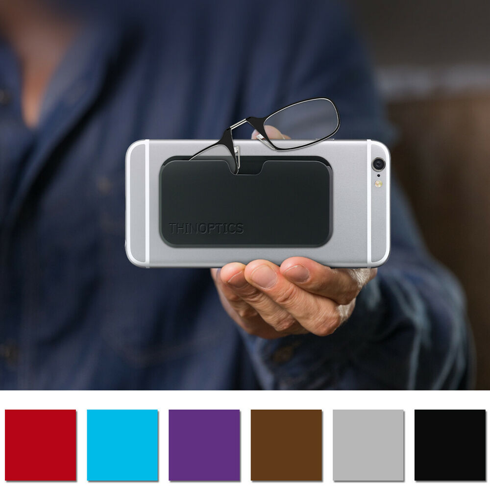 4b45b325edd Details about ThinOptics Secure Fit Armless Ultralight Reading Glasses with  Universal Pod Case