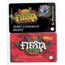 LOT of 2 FIESTA Casino Slot Card Players Cub LAS VEGAS & Henderson -30th ANNIVER