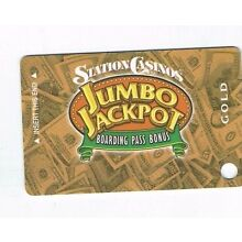 STATIONS Las Vegas Casino SLOT CARD Players Card - BLANK - Jumbo Jackpot - GOLD