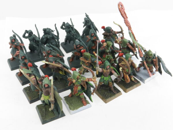 GLADE GUARD x 20 - Warhammer Wanderers Wood Elf Elves Aelf Age Of Sigmar Army