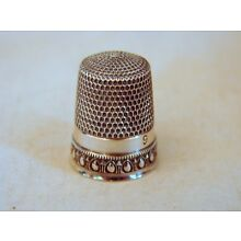 Old Sterling Silver No. 9 Sewing Thimble Simons Bros., Excellent C, Philadelphia