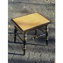 Antique Hitchcock Alford & Co. Bench Stool  Hitchcock Furniture Rare Black