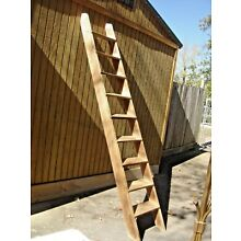Antique Pine or Poplar Loft Ladder. It has 9 steps The steps  are 1