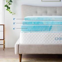 Kyпить Linenspa 2, 3, 4 inch Soft Plush Swirl Gel Memory Foam Topper - Full Queen King на еВаy.соm