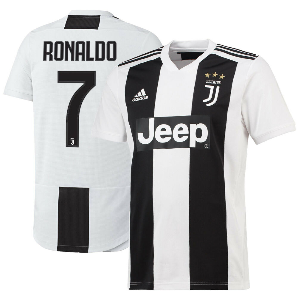 fa5c6253761 Details about adidas Juventus 2018 - 2019 C. Ronaldo # 7 Home Soccer Jersey  CR7 Kids - Youth