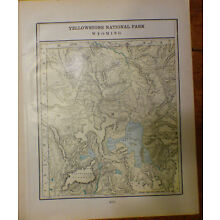 Vintage 1902 Yellowstone National Park Map 22