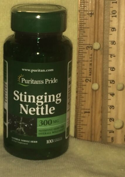 Stinging Nettle, from Puritan's  Pride.  100 capsules,  300 mg each
