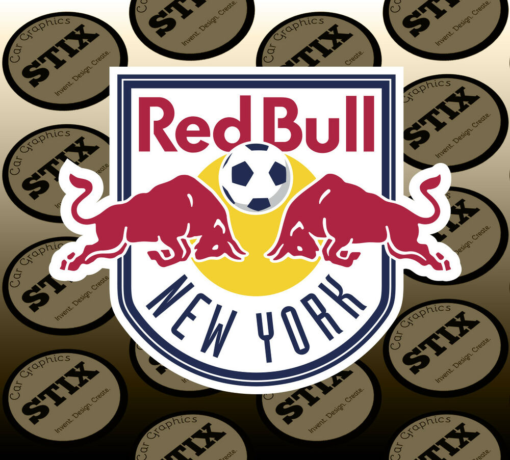 Details about new york red bulls logo mls color vinyl sticker car window hood bumper decal