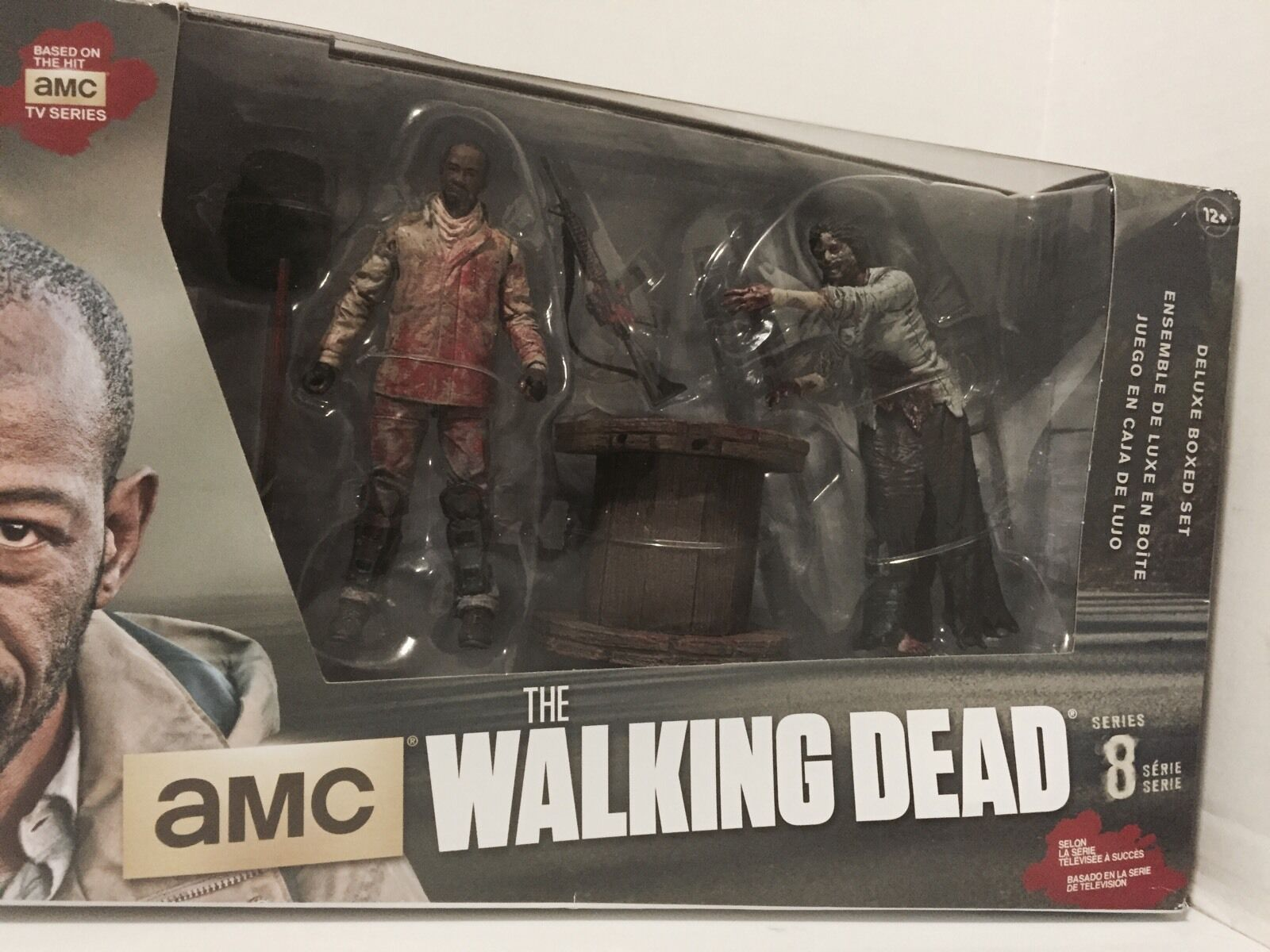 The Walking Dead Morgan With Impaled Walker And Spike Trap Deluxe Mcfarlane Toy Aufsteller & Figuren