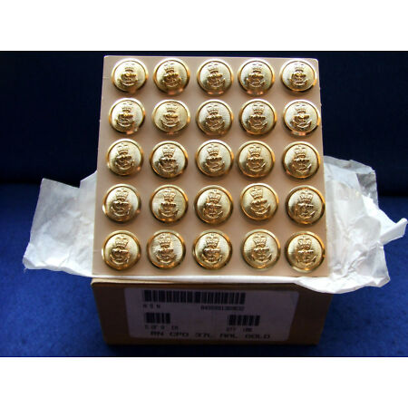 img-25 X ROYAL NAVY GOLD JACKET BUTTONS JOB LOT NAVAL MILITARY IDEAL FOR VETERANS