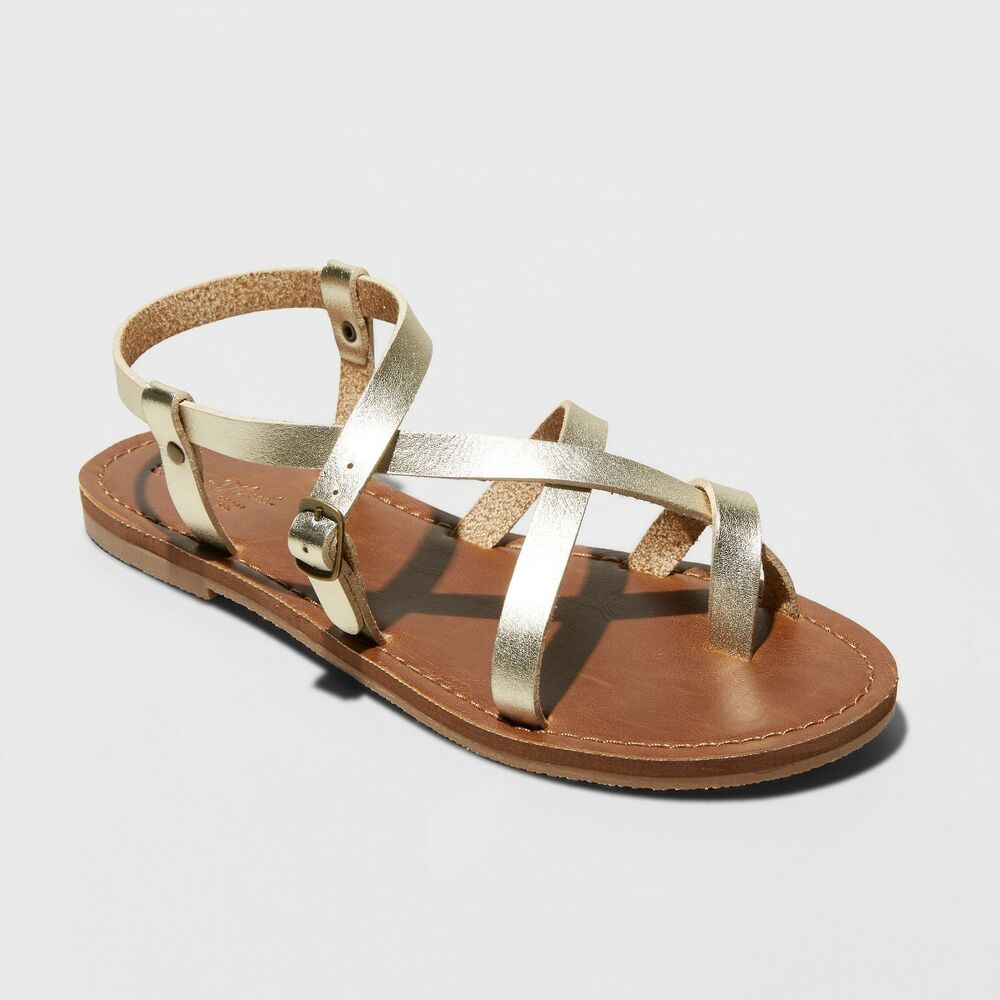 c9d6839baa05 Details about Women s Lavinia Toe Wrap Thong Sandal by Mossimo Supply Co  Size 8 Gold