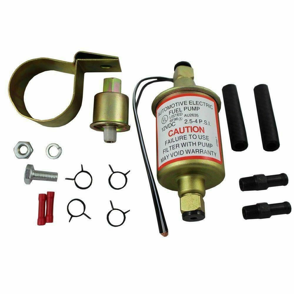 Details About New Universal 2 5 4 Psi In Line External Electric Fuel Pump W Installation Kit