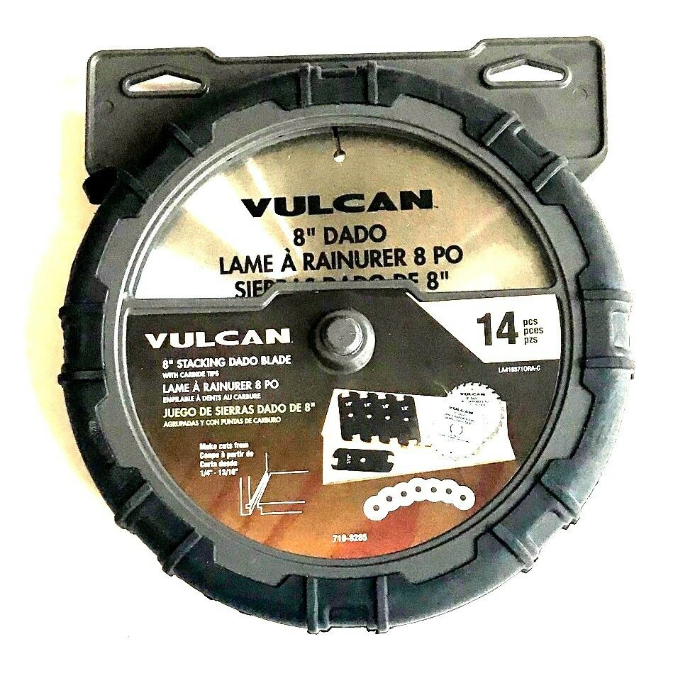 14pc Vulcan 8 Quot Stacked Dado Saw Blade Set Carbide Tipped
