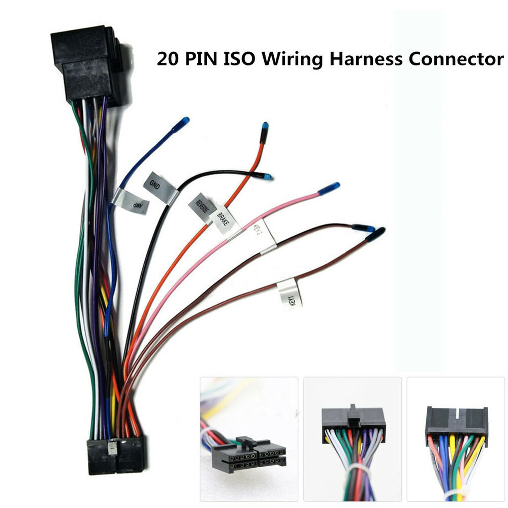 Car Stereo 20 Pin ISO Wiring Harness Connector Adapter For Android on wiring harness wire, wiring harness covers, wiring harness clips, wiring harness grommets, wiring harness components,