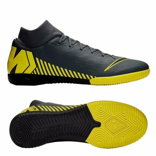 dc3dd134b0d Details about Nike Mercurial SuperflyX Academy VI DF IC Indoor 2019 Soccer  Shoes Gray Yellow