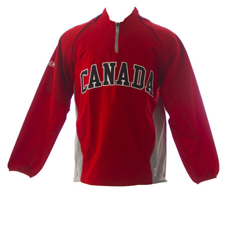 img-MAJESTIC Mens Red Canada World Baseball Classic Windbreaker 1JC1 NEW