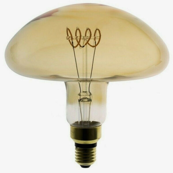 LAMPADINA LED XL DAYLIGHT MUSHROOM LED GOLD 5WATT DIMMABLE 250LM AMBRA 2000K