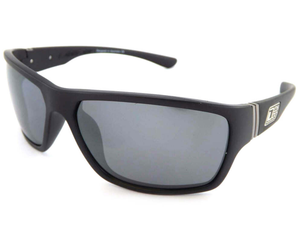 5cc7378087 Details about DIRTY DOG polarized STORM sunglasses SATIN BLACK  Silver  MIRROR 53344