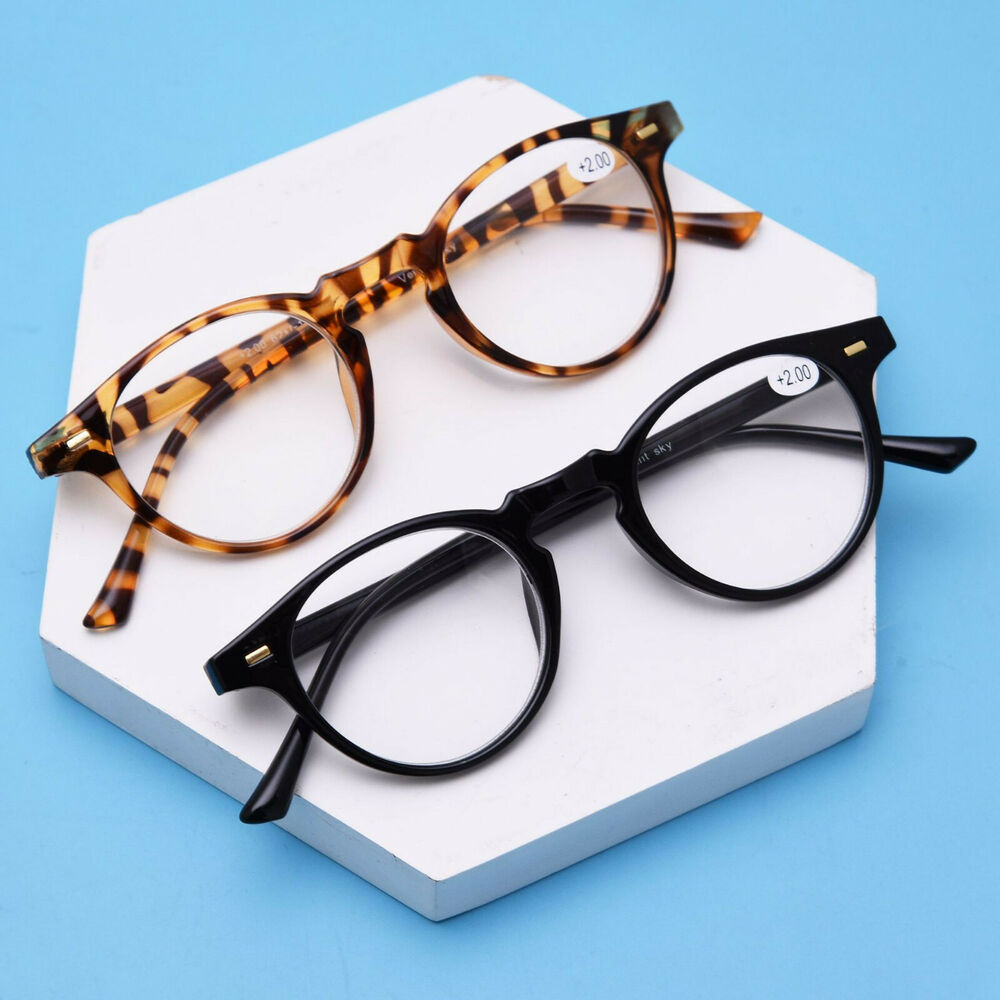 1b6e04514cf Details about Vintage Retro PC Full-rim Round Reading glasses for reader  Black Leopard