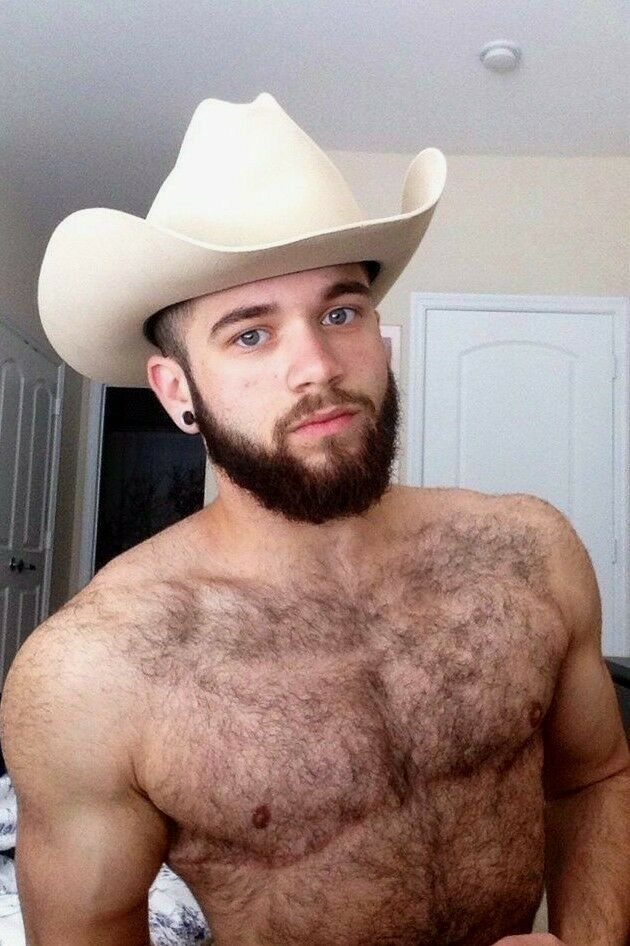Details about Shirtless Male Muscular Beefcake Hot Hairy Cowboy Beard Hunk  Guy PHOTO 4X6 F1795