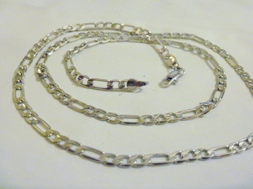 Details about bling silver plated FASHION figaro 20