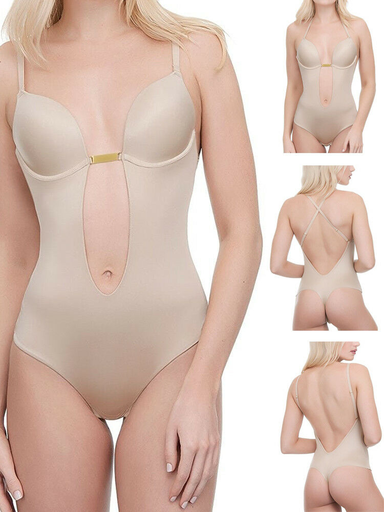 08e936161b Ultimo Low Front   Back Deep Plunge Bodysuit 0441 Underwired Removable Gel  Pads