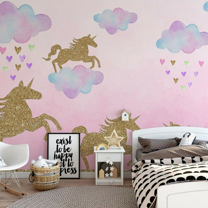 uk stock unicorn clouds wall sticker for kids room art home decor