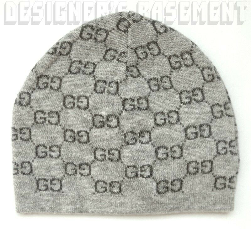 Details about GUCCI 2-tone Gray GG 100% Cashmere knit BEANIE Skully hat NWT  Authentic ONE SIZE 5a80171d057