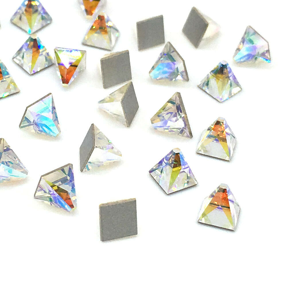 Details about 8 Swarovski 2419 Square Spike Flatback 4x4mm nail art tiny  CRYSTAL AB 001 AB NEW 2e47c3eb7801