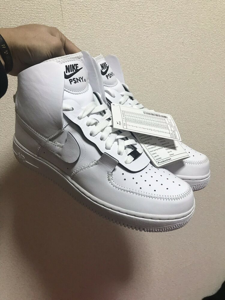c378fa601b856a Details about Nike Air Force 1 High PSNY Size 12 Public School New York  White Black AO9292 101