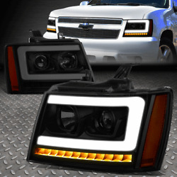 Kyпить [LED SEQUENTIAL SIGNAL]FOR 07-14 TAHOE SUBURBAN 3D DRL PROJECTOR HEADLIGHT LAMPS на еВаy.соm