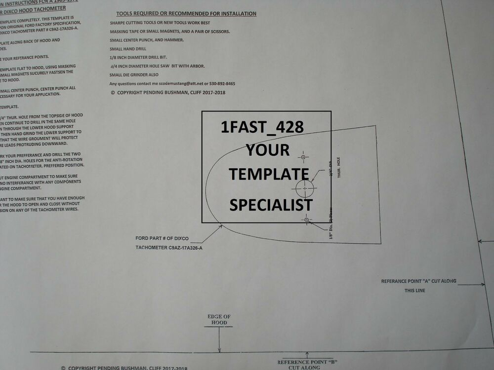details about 1969 1970 69 70 ford cougar xr7 hood tachometer template oem  w/ wire diagram